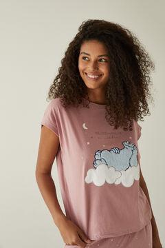 Womensecret Long pink cotton Cookie Monster pyjamas pink