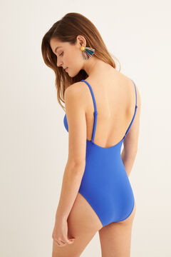 Womensecret Bañador Perfect Fit anilla azul