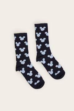 Womensecret Long black Mickey Mouse socks blue