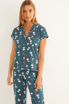 Womensecret Snoopy classic long Capri pyjamas green
