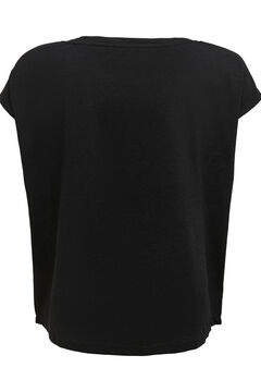 Womensecret Three-tone sustainable cotton t-shirt  black