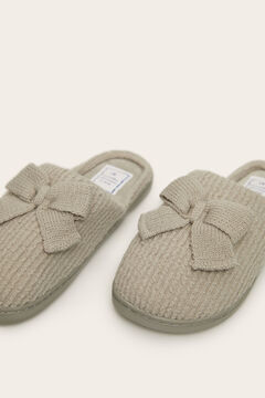 Womensecret Grey knit house slippers grey