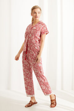 Womensecret Classic floral 100% cotton short-sleeved pyjamas  printed
