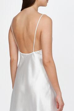 Womensecret Ivette Bridal women's short white satin nightgown beige