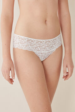 Womensecret Full guipure lace panty white