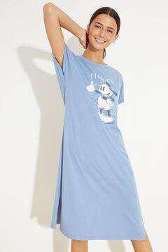 Womensecret Blue cotton midi nightgown blue