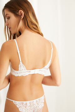 Womensecret GORGEOUS Soutien-gorge push-up dentelle blanc blanc