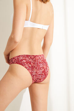 Womensecret 7-pack classic red cotton panties printed