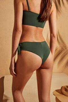 Womensecret Braga bikini bóxer alta verde lazo verde