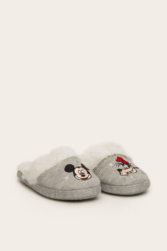 Womensecret Mickey and Pluto slingback slippers grey
