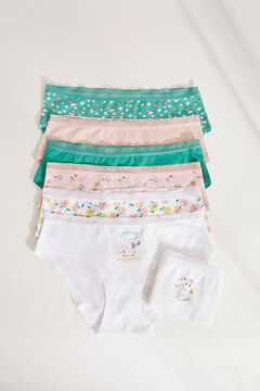 Womensecret 7-pack Snoopy print cotton classic wide side panties green