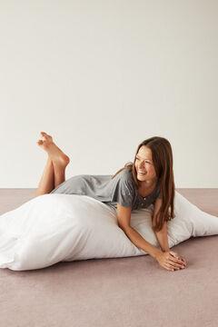 Womensecret Grey midi nightgown in 100% organic cotton with moon design grey