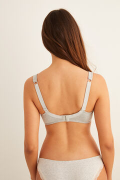 Womensecret Cotton and lace Post-Surgery bra grey