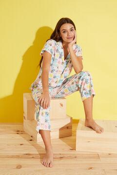Womensecret Stamp-print 100% cotton pyjamas white