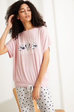 Womensecret Long pink Minnie Mouse pyjamas pink