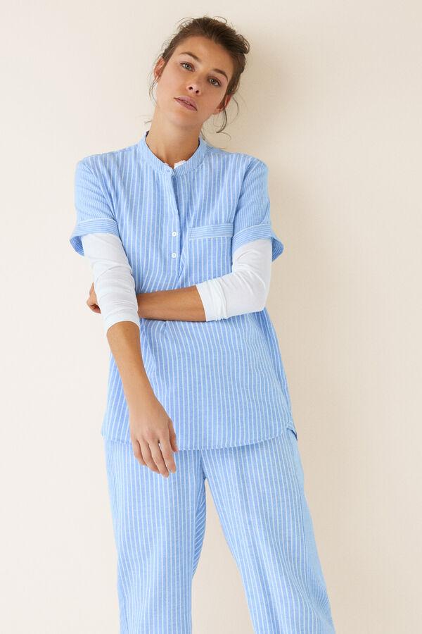 907b94b75 Womensecret Pijama largo camisero algodón estampado