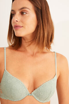 Womensecret Sujetador push up encaje menta verde