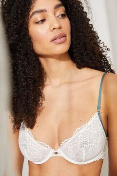Womensecret PRETTY Classic white lace bra no padding white