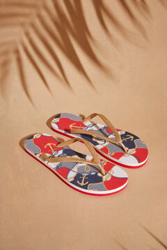 Womensecret Nautical print rubber flip-flops printed