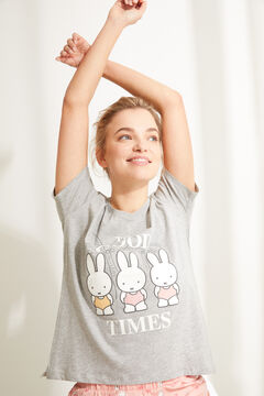 Womensecret Short cotton short-sleeved Miffy pyjamas grey