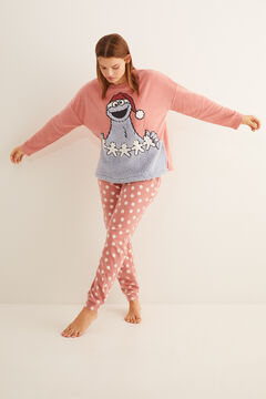 Womensecret Pink fleece Cookie Monster pyjamas imprimé