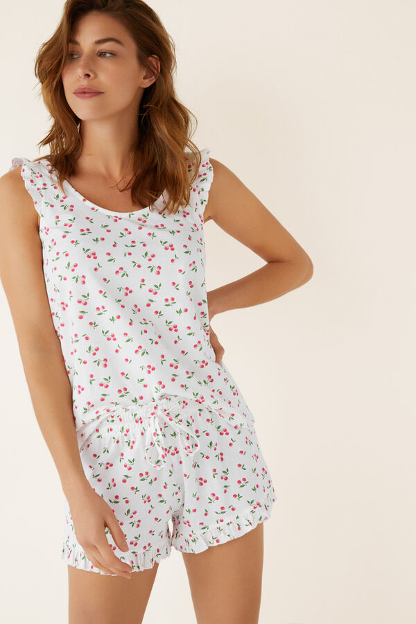 537a9f69940 Womensecret Pijama corto estampado cerezas estampado
