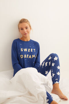 Womensecret Long blue star pyjamas blue