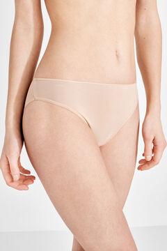 Womensecret 3 microfiber classic panties pack nude