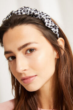Womensecret Gingham print headband black
