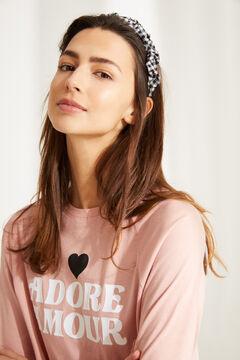 "Womensecret Long cotton ""Adore Amour"" pyjamas pink"
