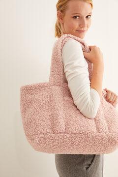 Womensecret Sac peau de mouton rose rose