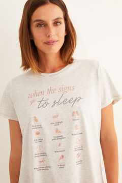 Womensecret Short-sleeved 'sleep' t-shirt grey