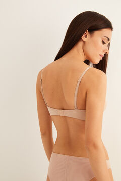 Womensecret Wireless triangular bra nude