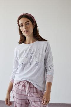 Womensecret Langes Hemd Grau Baumwolle Einhorn grey
