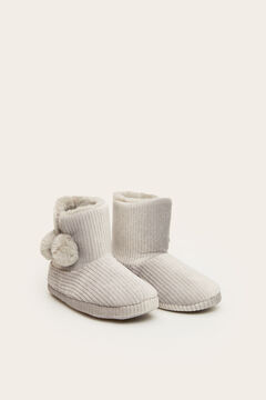 Womensecret Grey slipper boots grey
