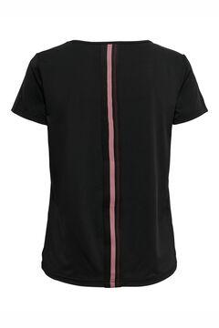 Womensecret T-shirt treino decote V preto