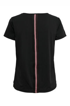 Womensecret Camiseta entrenamiento escote V negro