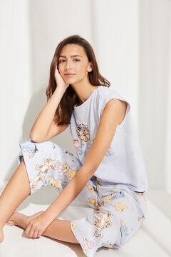 Womensecret Pijama manga corta Capri Winnie de Pooh algodón azul azul
