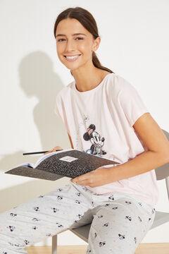 Womensecret Long cotton Minnie pyjamas pink
