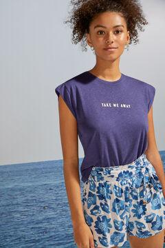 Womensecret T-shirt manches courtes bleu bleu