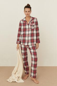 Womensecret Classic red checked cotton Mickey pyjamas printed