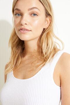 Womensecret White seam-free strappy top beige