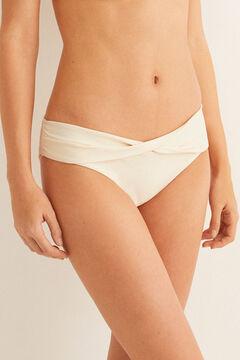 Womensecret Waist detail bikini panty white