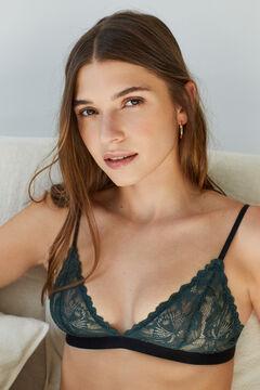 Womensecret Green lace triangle bra green