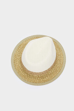 Womensecret Textured raffia hat brown