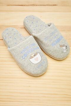 Womensecret Grey Moderna de Pueblo slippers grey