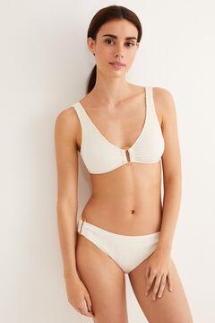 Womensecret Culotte bikini anneaux beige