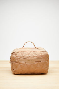 Womensecret Large quilted vanity case nude