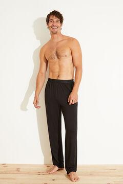 Womensecret Pantalón largo negro negro