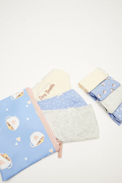 Womensecret 7-pack of cotton Moderna de Pueblo panties  blue